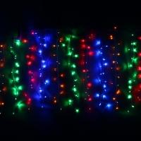 Гирлянда Сетка  для дома 1,5*1,5м 120ламп фиолет