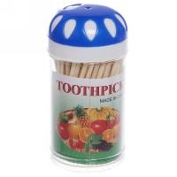 Зубочистки пластик банка пов крКапли 100штF-201/12