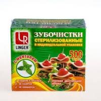 Зубочистки LINGER в индив.упак.П/П ментол 500шт/50