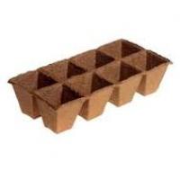 Торфяные горшочки 70х70 квадратные 8шт./60/