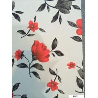 Пленка самоклеющаяся D&В 0,45*8м красно-черн цветы