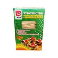 Зубочистки LINGER в индив.упак.П/П 1000шт/50/