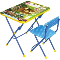 "Комплект ""Маша и медведь"" Азбука (стол+мяг.стул)"