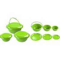 Миски с тарелками-крышками набор №1(6предметов)