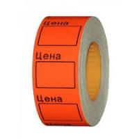 Ценник на ленте 29х28 (500эт) оранж цена  10шт/16/