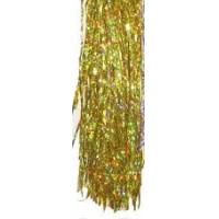 Дождик цвет золотой галограм 1м YS1 цена за10шт