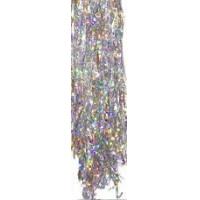 Дождик цвет серебро галограм 1м YS1 цена за10шт