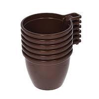 Чашка кофейная (коричневая) цена за50шт уп/ У-Ю/40